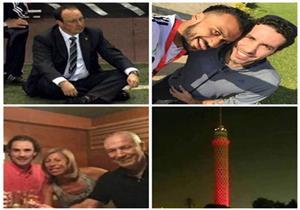 """لقطات الأسبوع: فيريرا """"السكير"""".. بينيتيز """"عبلة كامل"""".. و""""الشامي مع المغربي"""""""