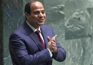 لحظة تدشين الرئيس السيسي لمشروع تنمية محور قناة السويس بشرق بورسعيد