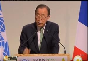 """كلمة الأمين العام للأمم المتحدة """"بان كي مون"""" خلال قمة المناخ في باريس"""