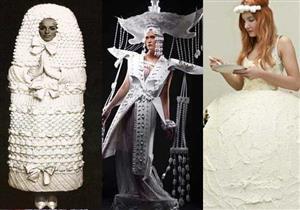 عام 2015 ...  عام التقاليع الجديدة والغريبة لتصاميم فساتين الزفاف