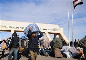 عودة 110 مصريين من ليبيا عبر منفذ السلوم خلال الـ24
