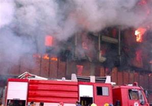 السيطرة على حريق بمبنى الأسواق الحرة بشارع جامعة الدول العربية