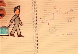 مخطط الجسم الحر وشنطة السفر2/3 - تدريبات عامة في الميكانيكا - ميكيانيكا ثانية ثانوي