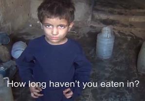 بالفيديو- طفل سوري تحت القصف: أعيش على الحشائش وأتمنى تناول الخبز