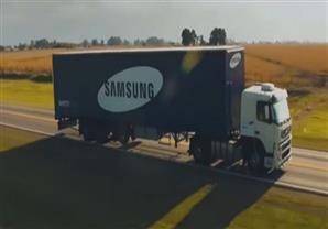 """""""شاحنات شفافة"""" تقنية جديدة من سامسونج للحد من حوادث الطرق"""