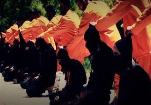"""بالصور- """"جيش الإسلام"""" السوري يقتل أعضاء بـ""""داعش"""""""