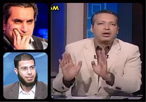 تامر أمين يهاجم باسم يوسف ونادر بكار بسبب شهادتهم الدراسية