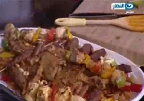 ارز بالخلطة و المكسرات - سلطة بلدي - الشيف علاء الشربيني
