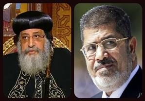 """البابا تواضروس الثاني يروي موقف غريب بينه وبين """"مرسى"""""""