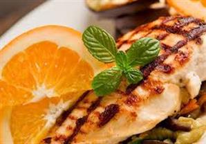 الدجاج المشوي بالليمون والبرتقال - الشيف يسري خميس