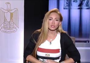 ريهام سعيد تزور قبر ابنة ضابط الفيوم بأعلام مصر