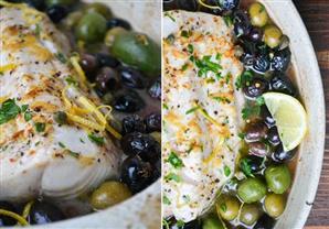 وصفة اليوم: السمك بالزيتون و التوابل علي البخار