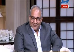 """بيومى فؤاد يقلد وائل الابراشي.. والأخير يعلق: """"مستقبلنا ضاع"""""""