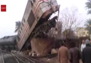 أول فيديو لانقلاب قطار الصعيد ببني سويف