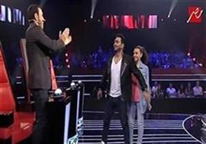 """تامر حسني بعد ضمه متسابقة لفريقه: """"هنقطعك يا كاظم """""""
