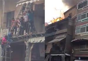 بالفيديو- لحظة إنقاذ سكان عقار من الموت ببورسعيد