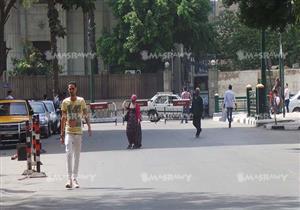 """بالصور.. قوات الأمن تُغلق شارع """" عبد الخالق ثروت"""" المواجه لنقابة الصحفيين"""