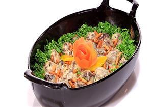 طريقة عمل صينية اللحم بالطحينة و البطاطس