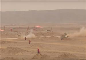 """بالفيديو- صدقي صبحي يشهد بيان """"مجد 14"""" بالذخيرة الحية"""