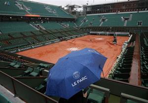 الأمطار تتسبب في إلغاء مباريات رولان جاروس