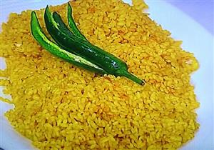 طريقة عمل أرز أصفر باللحم