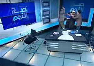 خناقة بالحذاء والأيدي بين نبيه الوحش ومفتي استراليا على الهواء -فيديو