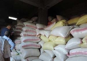 ضبط 27.500 طن أرز شعير وسكر مُدعم قبل بيعها بالسوق السوداء بالشرقية