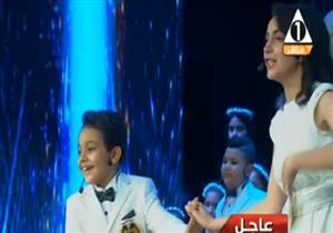 """غناء كورال أطفال مصر خلال الإحتفال بعيد الشرطة  بمشاركة أبطال """"ذا فويس كيدز"""""""