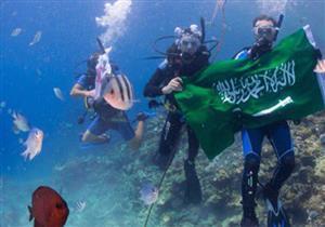 """سعوديون يعيدون نشر لقطات بـ """"علم المملكة"""" في تيران وصنافير"""