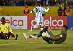أهداف (الإكوادور 1 - الأرجنتين 3) هاتريك ميسي