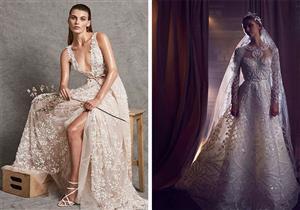 """من الأفضل برأيك.. مجموعة فساتين زفاف """"زهير مراد"""" أم """"إيلي صعب"""" لعام 2018؟"""