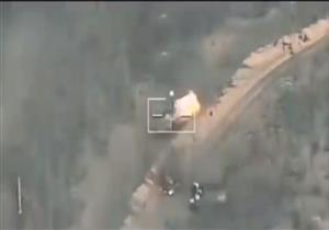المتحدث العسكري ينشر فيديو لحظة قصف القوات الجوية لمنفذي هجوم الشيخ زويد