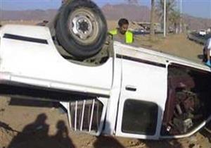 إصابة 15 عاملا في انقلاب سيارة بالمنوفية