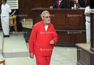 تأجيل محاكمة بديع و46 آخرين بقضية اقتحام قسم شرطة العرب لـ 26 نوفمبر