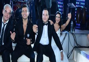تامر عبد المنعم يحتفل بزفافه الثاني في حضور عمرو دياب