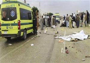مصرع وإصابة 6 أشخاص في حادث مروري ببني سويف