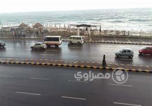 """بالصور.. أمطار على الإسكندرية قبل أسبوعين من نوة """"المكنسة"""""""