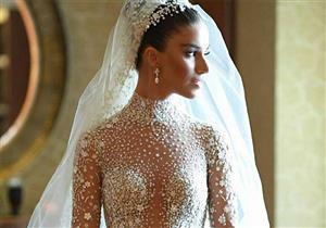 """بالصور..فستان زفاف أسطوري لخريجة ستار أكاديمي """"لارا اسكندر"""""""