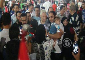 10 صور ترصد احتفال مرتضى منصور بتأهل منتخب مصر لكأس العالم