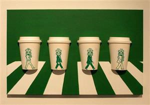 بالصور.. فنان كوري يحول أكواب القهوة إلى لوحات ثلاثية الأبعاد