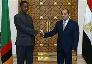 مراسم الاستقبال الرسمية لرئيس زامبيا في قصر الاتحادية -فيديو