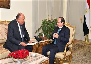 السيسي يلتقي وزير الخارجية لمتابعة نتائج جولته بـ 6 دول عربية