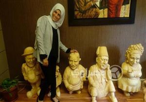 """حوار- """"نحاتة المنيا"""" التي رفضت بيع تمثالها لـ""""السيسي"""": أم كلثوم تمثالي المُقبل"""
