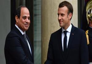 ماكرون يجري اتصالا بالرئيس السيسي لبحث الأوضاع في الشرق الأوسط