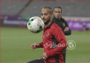 عدسة مصراوي ترصد إحماء لاعبي الأهلي قبل مواجهة الإسماعيلي