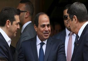 لحظة وصول السيسي إلى قصر الرئاسة القبرصي- فيديو