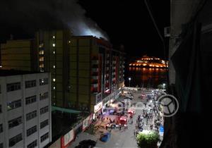 الحماية المدنية تسيطر على حريق بمول تجارى في أسوان