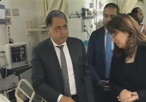 وزيرا الصحة والتضامن يزوران مصابي حادث الروضة بمستشفيي دار الشفا ومعهد ناصر