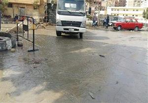 تسرب مياه ترعة الإسماعيلية يغرق منازل وشوارع منطقة البلاجات (صور)