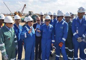 وزير البترول يتفقد أعمال المرحلة الثانية من حقول غرب الدلتا للغاز